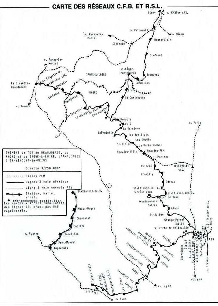 Carte des reseaux cfb et rsl